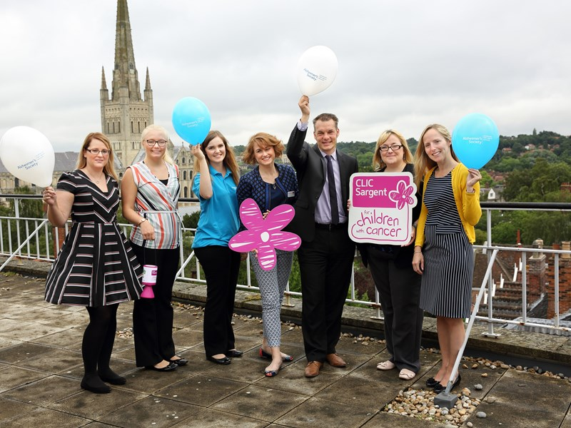 Following a year of fundraising for their two chosen charities Larking Gowen announce a great result for CLIC Sargent and Alzheimer's Society
