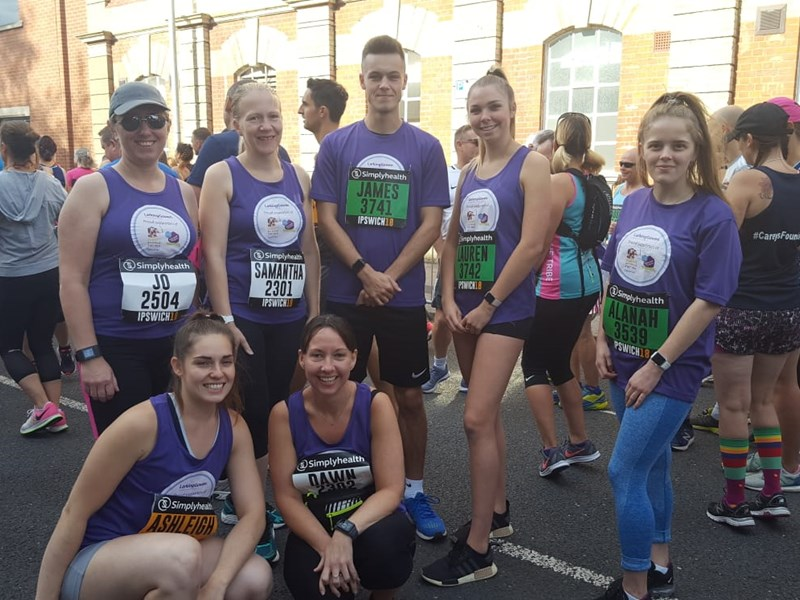 MHA Larking Gowen Runners raise over £800 for Elmer's Big Parade Suffolk